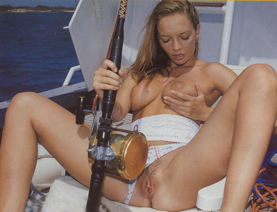 Can not Naked girls masturbate with fishing pole