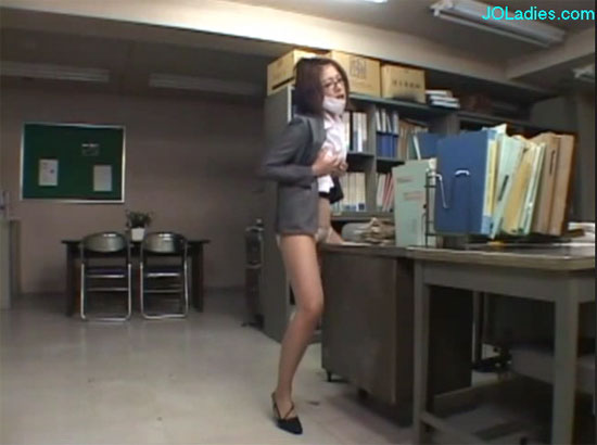 office worker has an affair with her furniture
