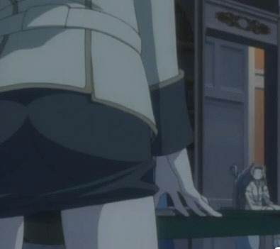 anime girl humping a desk