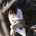 schoolgirl caught humping a chair